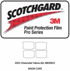 3M SCOTCHGARD PRO Paint Protection Film Chevrolet Suburban Tahoe 2021+ Door Cups