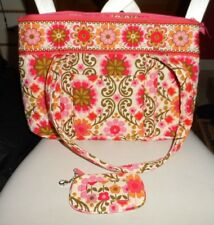 Vera Bradley large Betsy handbag and window ID in Folkloric pattern
