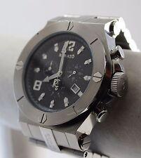 Renato Men's WildeBeast Watch, 316L SS Black Onyx Dial Chrono - Rare - Ltd Prod