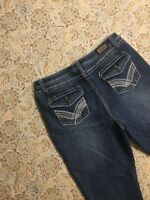Earl Jean Women's Designer Blue Jeans Size 10 Boot Cut Western Denim Pants Cute