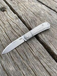 Pena Knives X-Series Zulu Front Flipper Knife M390 Blade, Jigged Titanium