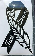 1- Fuckcancer Black Ribbon Vinyl Sticker