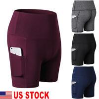 Women's Leggings Stretch Biker Shorts Workout Spandex New Yoga Pants S-2XL US