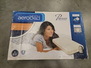 Aerobed Premier Twin 9 inch tall air mattress included carry bag & Pump  DMG BOX