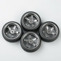 4Pcs 1:10 RC Rubber Tyre Tires&Wheel Rim 12MM Hex For HPI HSP On-Road Racing Car