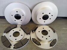 NISSAN X-TRAIL FRONT AND REAR BRAKE DISCS & PADS 2001-2007 NEW COATED DESIGN