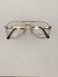 Vintage Monel-1 Flex Frame Gold & Chrome Aviator Glasses Demo Lenses 56-15-145