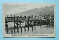 AK Kronprinzenbrücke 1914 Soldaten beim angeln Angel Maas Meuse Sivry 1.WK WWI