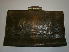 ANTIQUE LADY's GERMAN EXQUISITE PURSE BAG SKIN SNAKE LEATHER 1920-1930