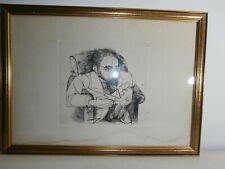 Rara Litografia Giacomo Porzano 1968 Tiratura 36/50 Con cornice 52x38 cm