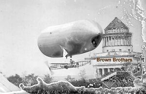 1909 NY Hudson-Fulton Dirigible Race Tomlinson Baldwin Glass Camera Negative #4