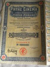 Vintage share certificate Stock Bonds action  Pathé Fréres Pathé Cinema