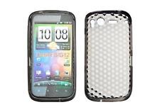 Funda Carcasa De Silicona Gel Negro Diamante ~ HTC Desire S / G12