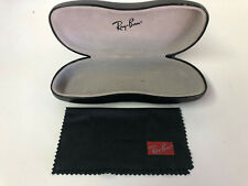 Ray Ban Sunglass/eyeglass Hard Shell Case Black & Cleaning Cloth - Used