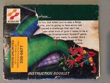 Teenage Mutant Ninja Turtles Tournament Fighters Manual Nintendo NES Instruction