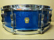 60's LUDWIG 5x14 BLUE SPARKLE JAZZ FESTIVAL SNARE DRUM