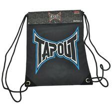 Tapout Mma Black & Blue Drawstring Backpack/ Back Sack Cinch Gym Sack