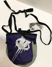 Evolv Rock Climbing Chalk Bag  (Purple & Gray) With Belt New