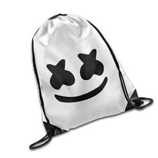Unisex DJ Marshmello Drawstring Backpack Canvas Training Bag Gym Sackpack Sports