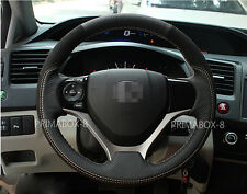Black Suede Steering Wheel Cover Specific for 9th Honda Civic 2012 2013 14 2015