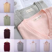 Japanese Girls School JK Uniform Vest Sweater V Neck Cosplay Knited Cosplay Top