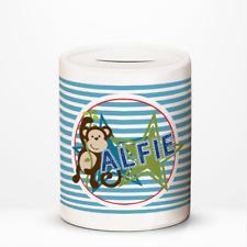 Personalised Cheeky Monkey Kids Children's Savings Money Box Gift Idea