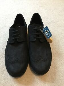 Brand New! TBS Black Suede Shoes With Caoutchouc Rubber Soles Size EU 44, UK 9.5