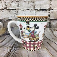 "Disney Mickey Mouse Sakura Mickey's Garden 4"" Tall Stoneware Coffee Mug 2000"