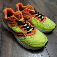 Saucony Youth Cohesion 10 Running Shoes Neon SK260397Y Size 6Y/Women's 7.5 Clean