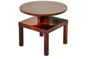 Vintage Art Deco Side Table made of Mahogany and Walnut