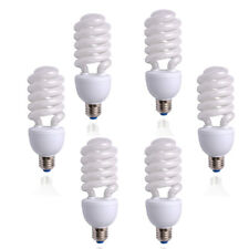 Photo Studio 6pcs 45W 5500K E27 Energy Saving Day Light Bulbs Fluorescent Lamp