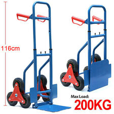Hand Trolley 200KG Folding Steps Stair Climber Truck Transport Cart 6 Wheels