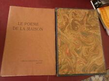 Mercier Le poème de la maison Bois originaux de  Gusman Cercle Lyonnais du Livre