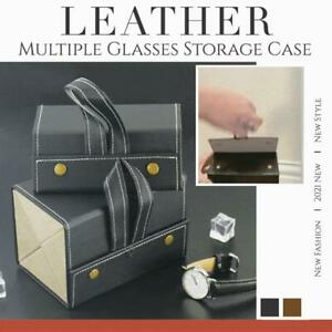 Leather Glasses Storage Case Store Foldable Sunglasses Bags Multiple Eyeglasses