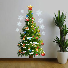 Christmas Tree Wall Stickers Window Decal Mural Vinyl Decor Removable House Home