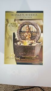 Newport Coast Collection Tranquil Buddha LED Water Fountain 7.2 inch High LED