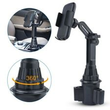 New listing 1pc Cell Phone 360° Adjustable Universal Phone Mount Car Cup Holder Stand Cradle