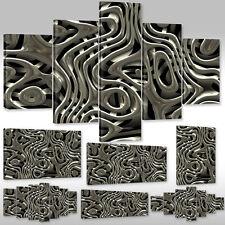 Neu Leinwandbild Canvas Wandbilder Keilrahmenbild Abstraktes flüssige graue Lava