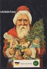 # GLANZBILDER # EF 5150 Bild-Karte / Riesenoblate, Weihnachtsmann / Santa