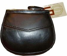 New women's leather framed change purse coin bag ladies wallet mini purse bnwt