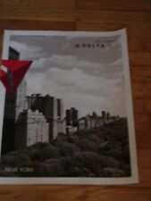 NEW YORK CITY - DELTA AIR LINES LARGE POSTER 28 x 22 - NEW - BLACK AND WHITE