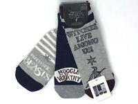 3 Paar Harry Potter Damen Sneaker Socken Strümpfe Muggles Hexen Zauber 37-42 Neu