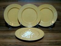 "SET OF 4 - PIER 1 - MARTILLO MANGO YELLOW - 8 5/8"" SALAD LUNCHEON PLATES - EUC"