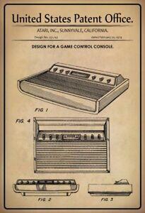 US Patent Atari Spielkonsole Game Console 1979 Schild Tin Sign 20 x 30 cm P0054