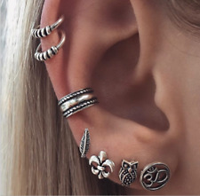 7 pcs Ear Wrap Overlay Rope Earring Cuff Earrings Stud Clip On Punk