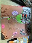UNKNOWN AWR ARTIST 2-PANEL GRAFFITI STREET ART ROBOT PAINTING EXCEL DALEK?