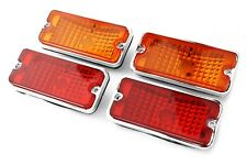 (4) 68-72 Chevy Truck Custom Amber & Red Side Euro Marker Light Lamps Set 67