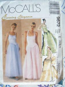 McCALLS 9672 Misses Lined Tops Skirt & Stole Evening Elegance Sz 14-18 NEW/UNCUT