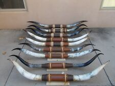 """Pretty mounted steer horns One Set 5' 6"""" to 5' 11"""" Longhorn Bull Cow Polished"""