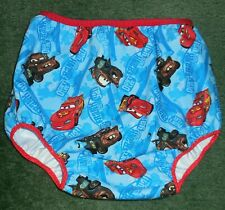"""Adult baby PUL LINED DIAPER COVER CARS LIGHTNING McQUEEN & TOW MATER  42"""" HIP"""
